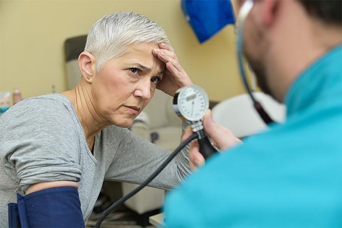 high blood pressure woman doctor